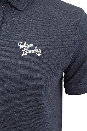 Herren Polo T-Shirt von Tokyo Laundry `Penn State`kurzärmlig Mood Indigo