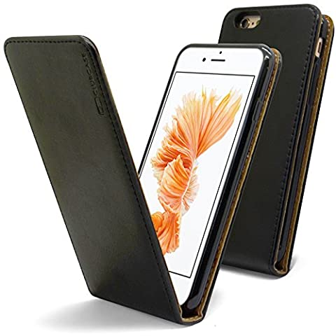 Caseink - Coque Housse Etui à rabat Premium iPhone 6 / iPhone 6s 4.7 [Cuir Vachette italien véritable - Fabrication Europe]