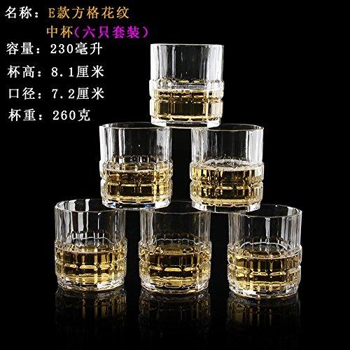 ZBZQ-Glas Schale, Tasse Tee, Kreative, Bier Cup, ausländischen Wein, Whisky Glas, multifunktionale Tasse Tee, E Modell Six Pack (Kostüm Bier Pack 6)