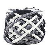 Oyedens 100 gramm Kammgarn Super Weiche Glatte Naturseide Wolle Garn Stricken Pullover Strickgarn (Mehrfarbig_#D)