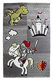 Kinderzimmerteppich Spielteppich Kinderteppich CASTELLO | 120x170 cm | Drachenmotiv