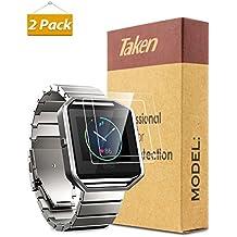 Taken Fitbit Blaze Protector de Pantalla - HD Protector de Pantalla de Cristal Templado para Fitbit Blaze Reloj Inteligente de Aptitud(2-Pack)