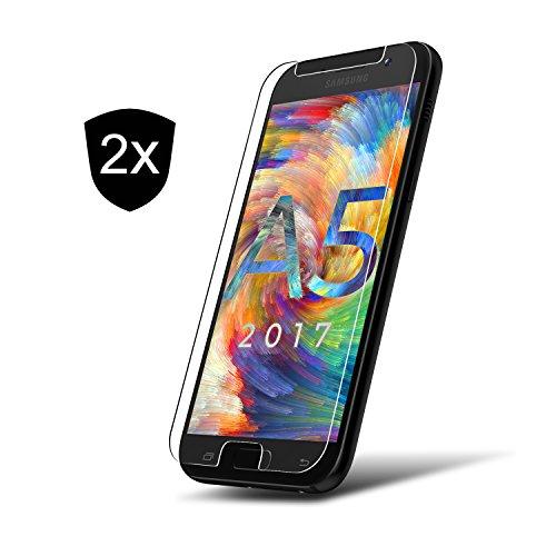 2x Samsung Galaxy A5 2017 Panzerglas Schutzfolie 9H ** Kein Display Zerkratzen ** Passgenaue Panzerglasfolie für A5 2017 ** Displayschutz-Folie aus Glas von UTECTION - Nicht Bildschirm 2 Samsung