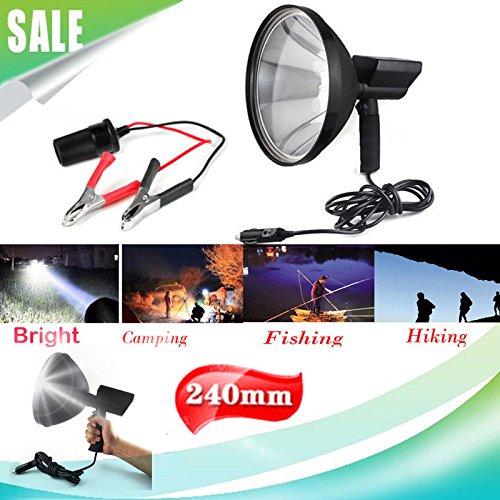 100W Jagd Lampe Licht Shooting Hand Held Stockfleck Taschenlampe Spot Licht Außen Suche Licht Licht 12V