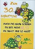 Geburtstagskarte XXL zum 30. Geburtstag, witzig + Umschlag