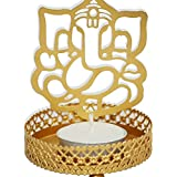 Ammvi Creations Shadow Ganesha Tealight Candle Holder With Tealight Candle For Diwali And Regular Home Décor
