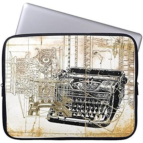 10–10,8pollici retro Laptop Sleeve Custodia impermeabile Custodia in Neoprene Borsa Notebook Computer Vecchi Note Musicali (Protezioni Foglio 11 X 17)