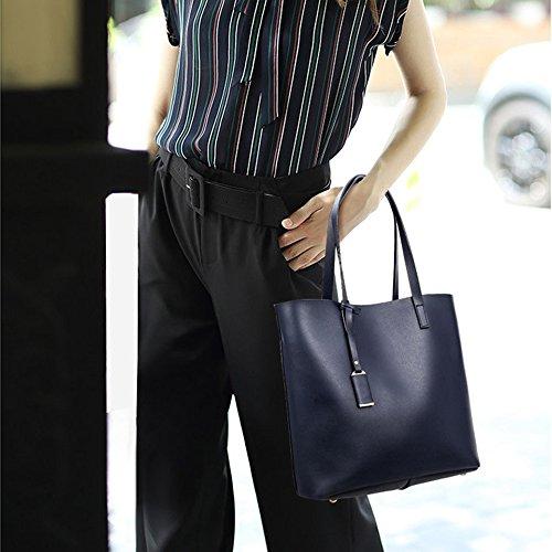 Young & Ming - Grande Totes Donna Borse a tracolla Baguette Borse a secchiello Handbag Borse a tracolla Blu