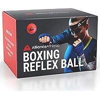 Alliance Athletic Balle de réflexe de Boxe - Bandeau Ajustable, Balle de réaction. Entraînez-Vous à la Boxe, au Conditionnement Physique, à la précision du Coup de Poing, au Timing et aux réflexes.