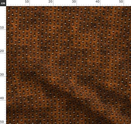 Mittelalter, Teller, Schuppen, Rüstung, Kostüm Stoffe - Individuell Bedruckt von Spoonflower - Design von Bonnie Phantasm Gedruckt auf Bio Musselin (Rüstung Kostüm Muster)