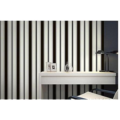 Papel pintado Rayas verticales luz del fondo del TV de gran fondo de pantalla en las paredes el papel pintado blanco y negro, negro moderno dormitorio minimalista salón comedor , type 2