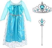 Vicloon - Disfraz de Princesa Elsa/Capa Disfraces/Belle Vestido y Accesorios para Niñas- Reino de Hielo - para