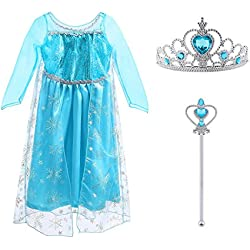 Vicloon Costume di Principessa Elsa
