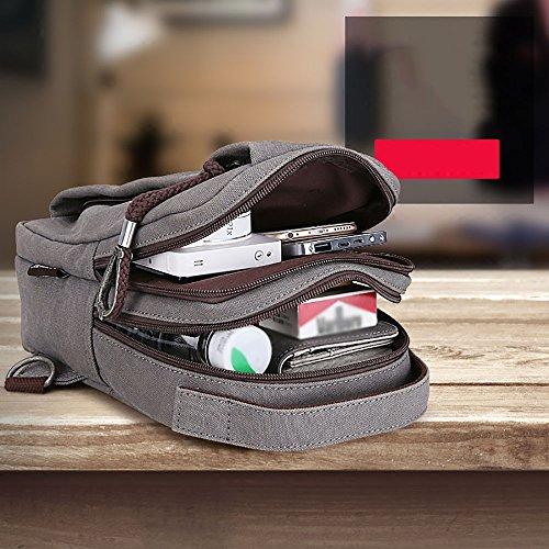 Anjcd Chest Pack Männer Messenger Bag Canvas Kleine Rucksack Mode Schultertaschen 4#