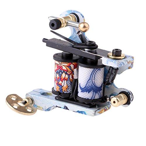 D DOLITY Profi 10 Coil Wraps Tattoo Motor Maschine Tätowiermaschine für Shader Liner (48 Rahmen Motor)
