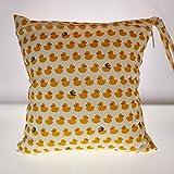 lvedu, waschbar, Baby Tuch Windel Windel-Tasche, wasserdicht, wiederverwendbar mit Tuch mit Wickeltasche mit Blumen-Muster