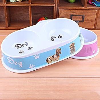 darpy (TM) Nouvel Animal chiot chat Distributeur d'eau pour chien double port, Nourriture Boisson Gamelle pour chat bol plateau pour chiens, produits pour chiens