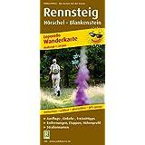 Rennsteig, Hörschel - Blankenstein: Leporello Wanderkarte mit Ausflugszielen, Einkehr- & Freizeittipps, wetterfest, reissfest, abwischbar, GPS-genau. 1:25000
