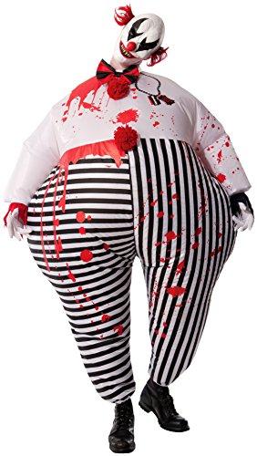 Imagen de rubie'sdisfraz de payaso de terror de halloween, hinchable, para adultos, producto oficial de rubie's, tallaúnica estándar, varios colores alternativa