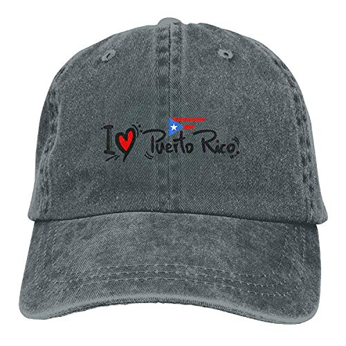 Preisvergleich Produktbild I Love Puerto Rico Vintage Jeans Baseball Cap for Men and Women