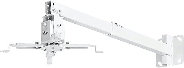 RiaTech Heavy Duty 25 inch Universal Projector Ceiling Mount Bracket - White