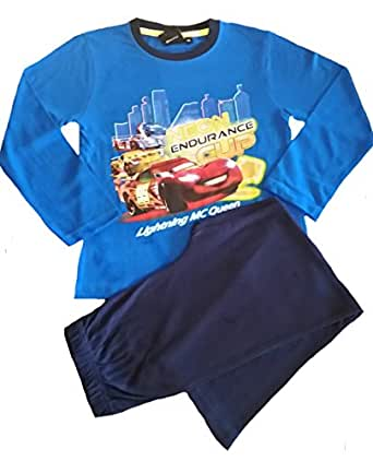Childrens Boys and Girls Long Sleeve Character Pyjamas Pjs Superman - Cars Blue 2