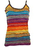 Guru-Shop Stonewash Goa Top, Damen, Regenbogen 1, Baumwolle, Size:M/L (40), Tops, T-Shirts, Shirts Alternative Bekleidung