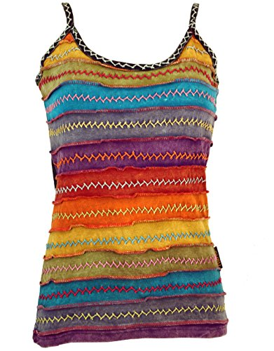 Goa Top, Damen, Regenbogen 1, Baumwolle, Size:S/M (36), Tops, T-Shirts, Shirts Alternative Bekleidung ()