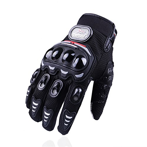 MADBIKE RACING EQUIPMENT Madbike Guantes de la motocicleta del verano pantalla táctil malla transpirable (Medium, black)
