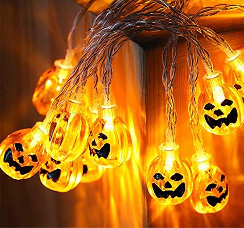 3D-Kürbis LED-Saiten Leuchten Konstant Auf/Twinkle Ghost Eyeball Bat Schädel Halloween-Set Von 5Pcs Theme Party Karneval Festival Feier Indoor-Garten DIY Dekoration Batterien (Nicht Enthalten)
