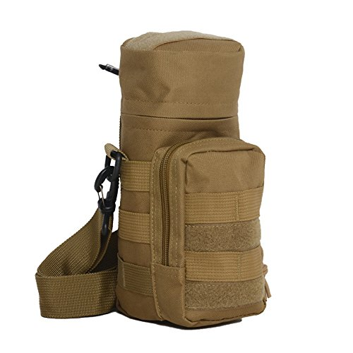 Mefly Outdoor Multifunktionale Rucksack Regenschirm Camouflage Wasserflasche Knapsack Taktische Armaturen Tasche Army green