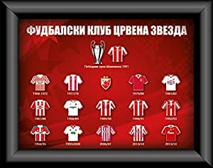 Belgrade rouge-red star en étoile belgrade crvena zvezda 18 x 24 pins collection maillot en jersey pour enfant