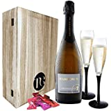 Luxury Prosecco Gift Set – Beautifully presented Luxury Prosecco with Flutes and Chocolates