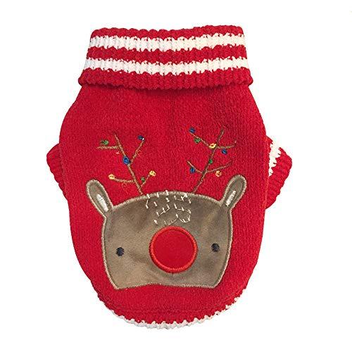 Fatchot Hundekostüm für Kleine Hunde, Weihnachten, Chenille, für Herbst und Winter