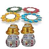 LOF Handmade Decorative Designer Candles Set Of 12 Pcs