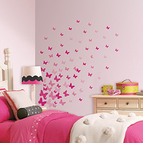 roommates-pink-butterfly-childrens-repositionable-wall-stickers-multi-colour