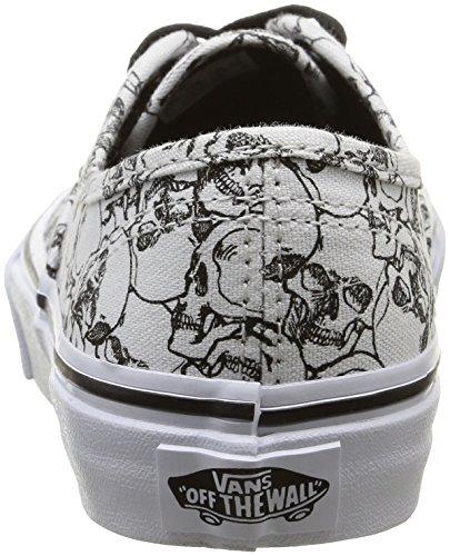 Vans K Authentic Color Me, Baskets Basses Mixte Enfant Blanc (Color Me/Skulls/True White)