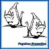 2x Piranha mit Riesenzähnen ca. 30x20 cm Aufkleber aus Hochleistungsfolie - viele Farben zur Auswahl - Angler Angelboot Sticker Boot Boote Beschriftung Bug Heck Fische Angeln Schlauchboot Nautic See Fischer Fischen