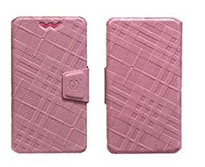 J Cover Nubuck Series Leather Pouch Flip Case With Silicon Holder For LGK4 Pink