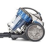 H.Koenig STC68 Aspirateur Multi cyclonique sans Sac Compact+ spécial Poils d'animaux-Triple A-léger-maniable-Puissant, Bleu