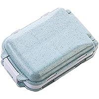Preisvergleich für Tragbare Reise-Pillendose, für Tasche, Geldbeutel, Vitamin-Box für den täglichen Gebrauch