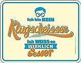 empireposter Klugscheisser - Blech-Schild Spruch - Blechschild 22x17 cm