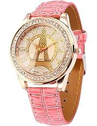 AMPM24 WAA500 - Reloj para mujeres, correa de cuero color rosa