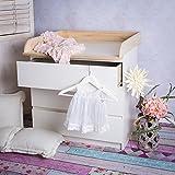 Naturholz Wickelaufsatz Wickeltischaufsatz für IKEA Malm, Mandal, Brusali Kommode thumbnail