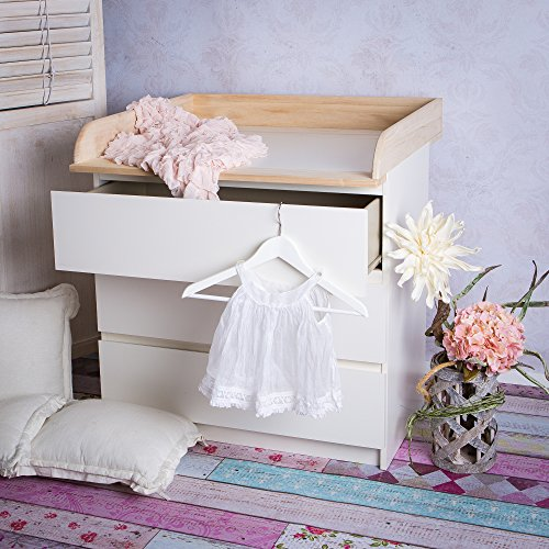 Babyzimmer ikea malm  Naturholz Wickelaufsatz Wickeltischaufsatz für IKEA Malm, Mandal ...