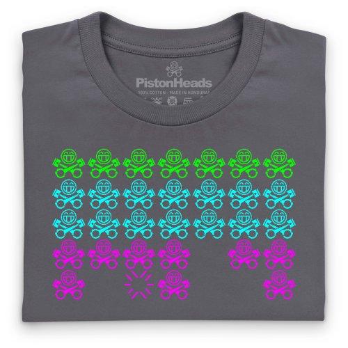PistonHead Invaders T-Shirt, Herren Anthrazit