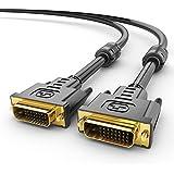 Sentivus - 1.5m - Cable DVI a DVI Dual Link Premium - DVI-D (24+1) macho a DVI-D (24+1) macho - Blindaje doble - Filtro con Núcleo de Ferrita - negro - 1080p