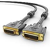 Sentivus Premium DVI zu DVI Kabel (2m) full HD bis 2560x1600 - (DVI-D Dual Link 24+1 Stecker) OFC Kupfer (verzinnt) 3-fach geschirmt - Ferrite-Filter, schwarz, 2 Meter