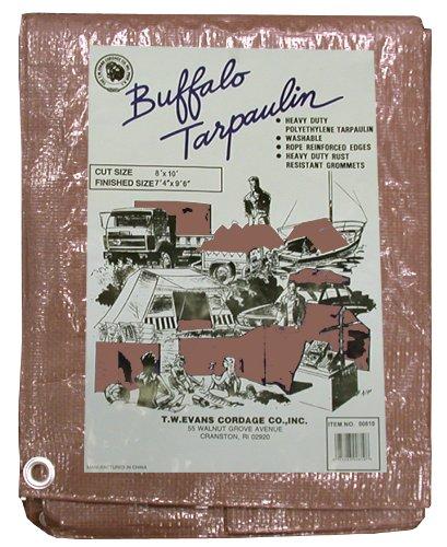 T.W. Evans Cordage B1220 12 pi x 20 pi Buffalo Poly Tarp dans Brown