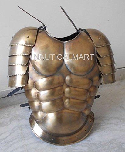 NAUTICALMART Messing antik Finish Herren Muscle Armor Jacke mit Schulter